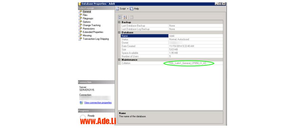 یادداشت های یک عادلی mssqlcol1 تغییر collation دیتابیس در mssql 2008/2012 MS SQL Server مدیریت سرور  mssql 2012 change collation sql server